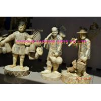 Buy cheap Bone street vendor statues bone fisherman figurines bone carvings from wholesalers