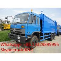 Buy cheap hot sale good price dongfeng 6*4 18cbm garbage compactor truck, factory best price dongfeng 16m3 compacted garbage truck from wholesalers