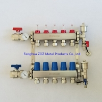Buy cheap Stainless Steel Radiant Floor Heating Manifold with 1/2 PEX compression fittings from wholesalers