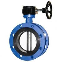 Buy cheap 4 Inch Resilient Seated Butterfly Valves With Worm Gear / Double Flanged Butterfly Valve from wholesalers
