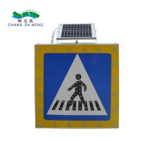 China Welcome inquiry solar battery power road signs with led lights road warning on sale