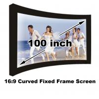 Buy cheap Full HD 100 Inch Curved Fixed Frame Projection Screen 16:9 For Home Cinema Video Projector from wholesalers