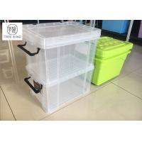 "Buy cheap 30Ltr  Stackable Usefull Plastic storage boxes container with Clip-lock lid ,  19.3"" *13.8"" * 11.2"" from wholesalers"