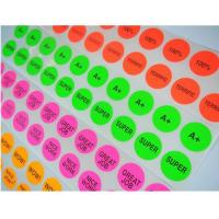 Buy cheap Self adhesive round label stickers / recycled paper hang tags for kids from wholesalers