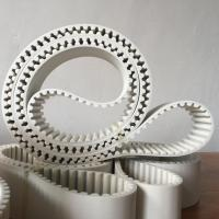 Buy cheap HTD14M PU Material white seamless transmission belt product