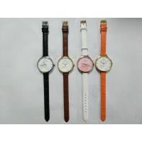 Buy cheap Stainless Steel Quartz Watch With Flower Dial Design Genuine Leather Strap from wholesalers