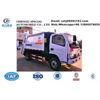 Buy cheap Dongfeng 4*2 small compactor garbage truck for sale in Sri Lanka, Factory sale good price 5M3 rear loader garbage truck from wholesalers