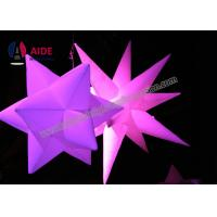 Buy cheap Ripstop Nylon Blow Up Lighting Inflatable Led Star Decorations Commercial / Rental Grade from wholesalers
