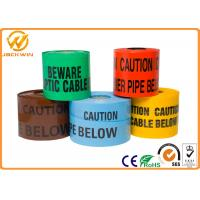 Buy cheap Reflective Danger Barricade Tape for Construction Site / Underground Detectable Warning from wholesalers