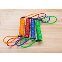 Buy cheap Customized Fashion Colors Loop Ends Elastic Plastic Coil Cord Rope Tethers from wholesalers