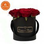 Buy cheap Luxury high-end black circular paper flower box custom packaging box OEM service from wholesalers