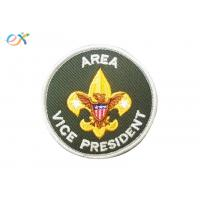Buy cheap Logo Custom Boy Scout Patches , Army Green Color Custom Military Patches With Letter from wholesalers