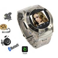 Buy cheap quad band stainless steel wrist watch  mobile phone W968 with 2.0mp camera and bluetooth from wholesalers