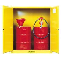 Buy cheap Steel Vertical Drum Storage Cabinets , Double Door 200L Flammable Drum Cabinet product