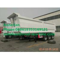 Buy cheap 35M3 Heavy Duty Side3 Axles 60 - 80 Tons Semi Trailer Dump Truck SINOTRUK Brand from wholesalers