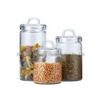 Buy cheap Custom Recycled  Glass Storage Canisters / small glass jars with lids for home from wholesalers