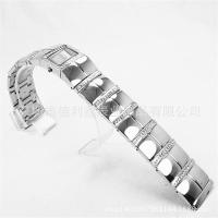 Buy cheap Watch strap inlaid diamond gemstone stainless steel bracelet high-grade gorgeous jewelry 20mm from wholesalers
