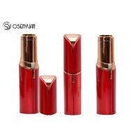 Buy cheap Rechargeable Mini Painless Face Hair Remover Gold Plated Lipstick Shaped from wholesalers