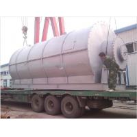 Buy cheap Batch Type: Scrap Tyre Pyrolysis Equipment 10% with Steel wire from wholesalers