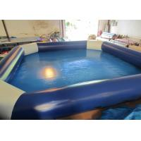 Buy cheap Amusement Park Inflatable Water Games Blue Blow Up Pool 8 X 8m Customized from wholesalers