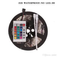 Buy cheap Non-Waterproof 5M/roll 300 LEDs RGB SMD 3528 Flexible led Strip Light with 24Keys IR Remote from wholesalers