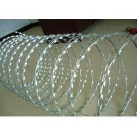 Buy cheap Galvanized BTO-12,18,22,28,30 CBT-60,65 Razor Barbed Wire Concertina Wire Coil For Security from wholesalers