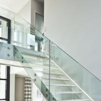 Buy cheap modern straight staircase/metal stair iron stairs of the house price wood stair treads Staircase from wholesalers