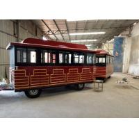 Buy cheap Customized Color Trackless Train Amusement Ride With FRP And Steel Material from wholesalers