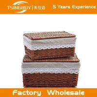 Buy cheap Wholesal high quality 100% nature handcraft rattan wicker basket with lid-Food Save Natural Wicker Bread Basket from wholesalers