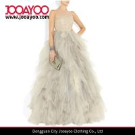 Buy cheap Women Fluffy Wrinkled Sleeveless Shoulder Formal Dress from wholesalers