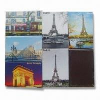 Buy cheap Fridge Magnets, Made of Crystal Glass, Die-cut PVC and Paper, Environment-friendly product