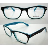 Buy cheap Blue Black Stylish Acetate Optical Frame For Women, Men 52-18-140mm from wholesalers