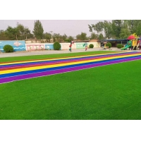 Buy cheap 3 Color UV Resistant 3300 Dtex Colored Artificial Turf product