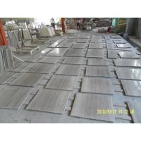 Buy cheap Chinese Wooden Vein Marble Grey Wood Slab Marble Tiles For Decoration from wholesalers