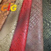 Buy cheap Lady Bag Imitation Crocodile Grain Synthetic Leather Material Width 132cm - from wholesalers