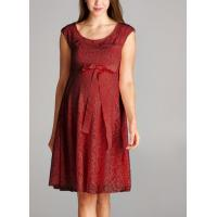 Buy cheap Trendy Red Color Lace Maternity Going Out Dresses Clothes Anti - Wrinkle from wholesalers
