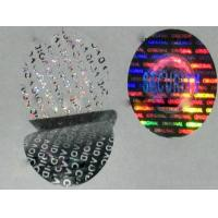 Buy cheap Custom made anti-fake void one time use 3D gold silver hologram stickers on roll on sheet from wholesalers