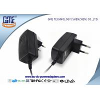 Buy cheap EU PIN 12V Power Adapter 1.25A Low Ripple 50Hz With Black / White Color product