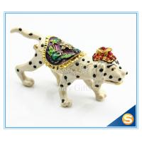 Buy cheap Dog Trinket Box Animal Jewelry Box Metal Pewter Enamel Gift Box Modern Home Decorative Gift Box SCJ057 from wholesalers