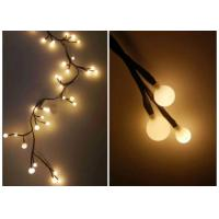 Buy cheap 220V Indoor LED String Lights 2.5 Meters 72 Warm White Bulbs For Xmas from wholesalers