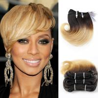 Buy cheap 8A Grade 8 Inches Ombre Color Snail Curl   Brazilian Human Hair Sew In Weave from wholesalers