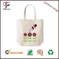 Buy cheap White in color fabric cotton shopping bag from wholesalers