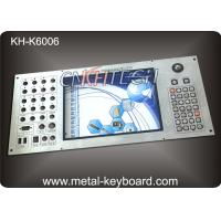 Customizable Industrial Metal Keyboard Built in 30 buttons and 19mm trackball