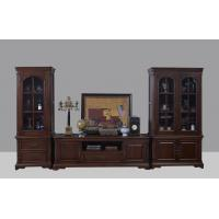 Buy cheap American Antique Living leisure room furniture sets Wooden TV wall unit set by Floor stand and Tall display cabinet from wholesalers