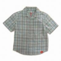 Buy cheap Boy's Shirt, Made of 100% Cotton with Short Sleeves from wholesalers