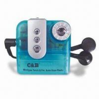 Buy cheap FM Mini Radio with 88 to 108MHz Frequencies, Available in Light Function and Transparent Body from wholesalers