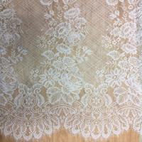 Buy cheap 150cm * 300cm  2017  New Fashion Bridal Eyelash Lace Fabric  in Ivory  color from wholesalers