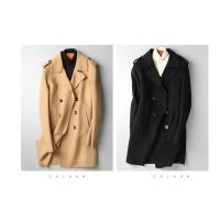 Buy cheap Fashionable Mens Wool Jacket With Shoulder Mark Double Breasted Buttons from wholesalers