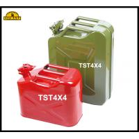 Buy cheap Anti Ultraviolet 5 Gallon Red Green Steel Jerry Can Military Gas Tank from wholesalers