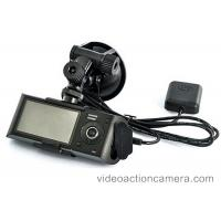 Buy cheap Dual Camera Car GPS Video Recorder 720P Resolution With SD Card Storage from wholesalers